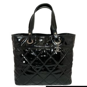 CHANEL Paris Biarritz GM Patent Leather Tote